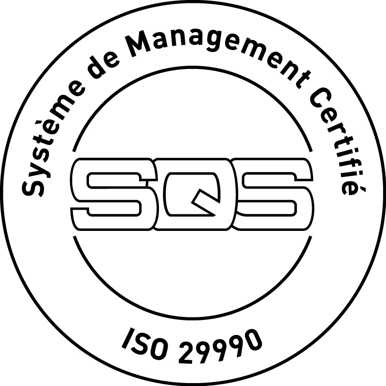 Certification ISO 29990